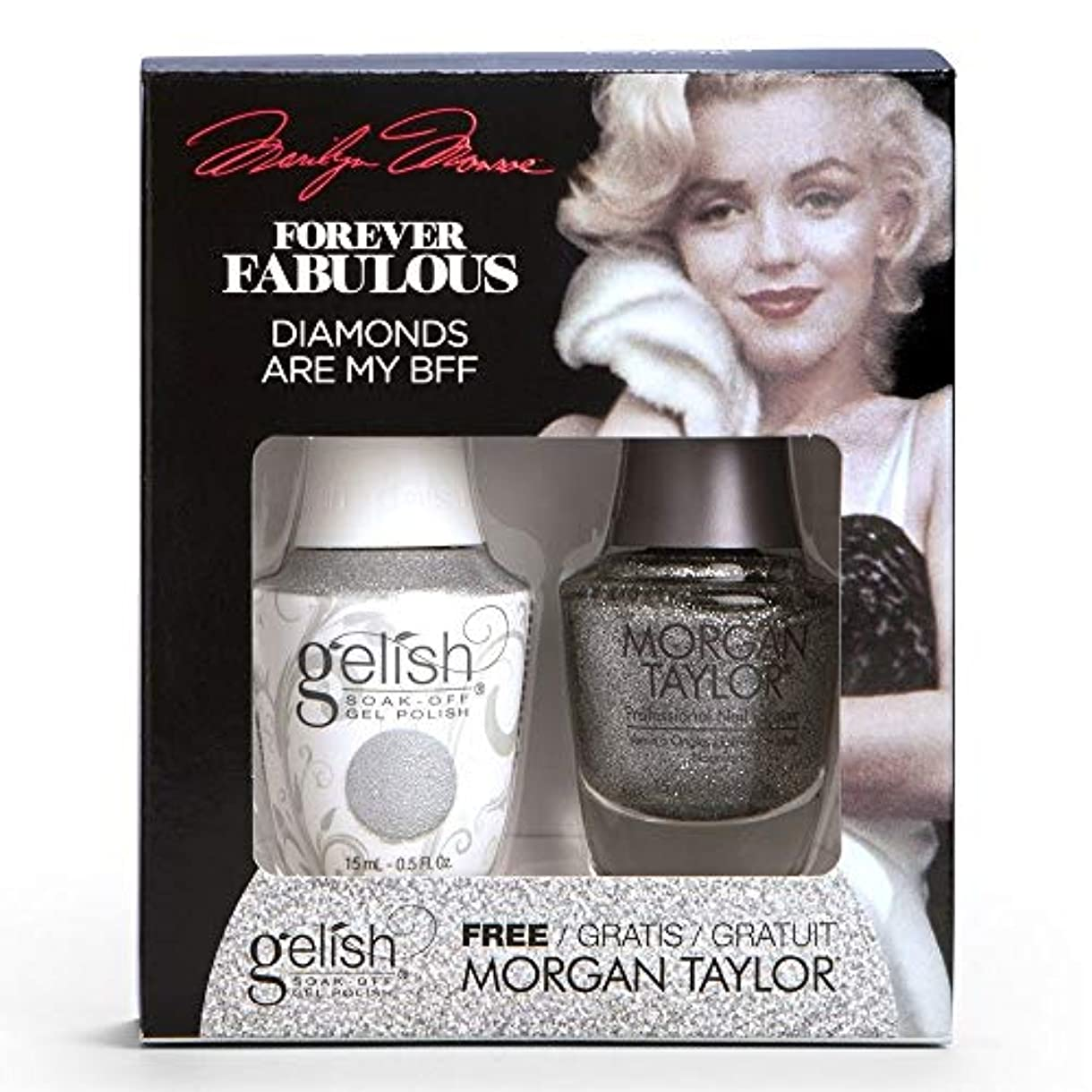 誓約翻訳うんHarmony Gelish & Morgan Taylor - Two Of A Kind - Forever Fabulous Marilyn Monroe - Diamonds Are My BFF - 15 mL...