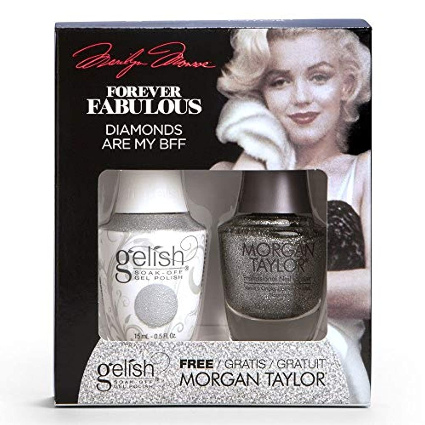 面積形容詞顧問Harmony Gelish & Morgan Taylor - Two Of A Kind - Forever Fabulous Marilyn Monroe - Diamonds Are My BFF - 15 mL...