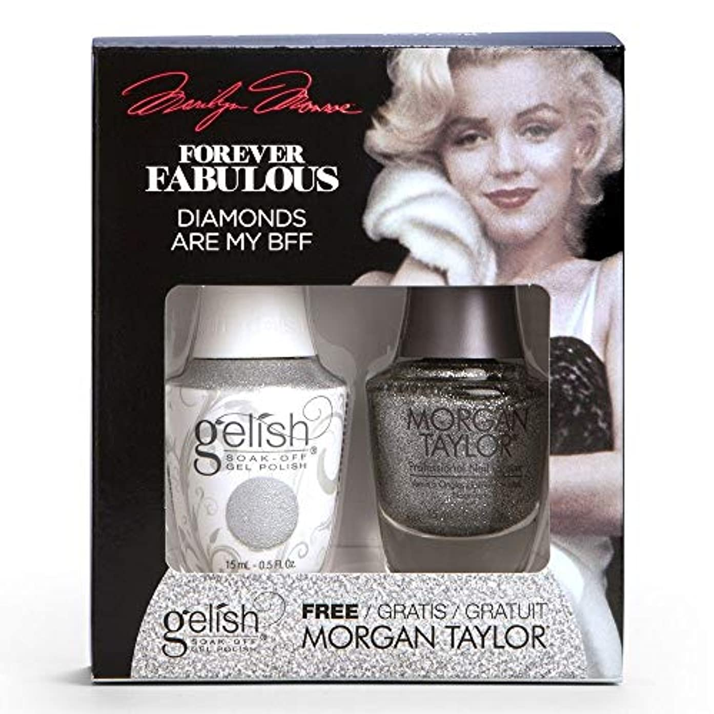 Harmony Gelish & Morgan Taylor - Two Of A Kind - Forever Fabulous Marilyn Monroe - Diamonds Are My BFF - 15 mL...