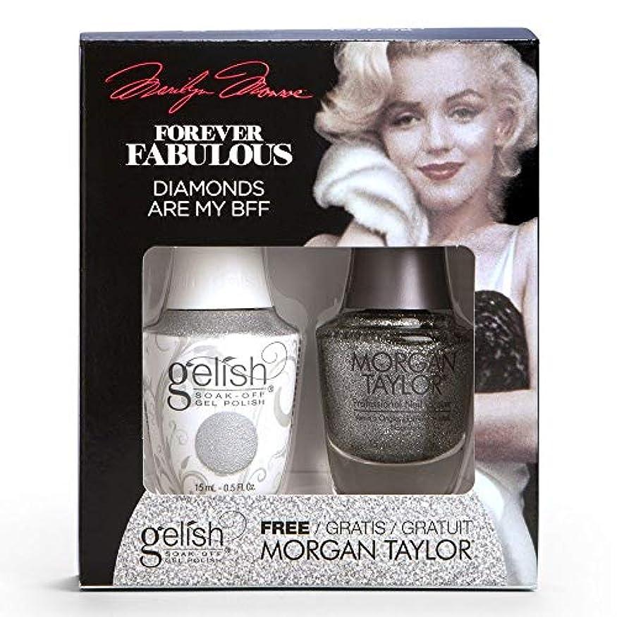 フォーク意欲猛烈なHarmony Gelish & Morgan Taylor - Two Of A Kind - Forever Fabulous Marilyn Monroe - Diamonds Are My BFF - 15 mL...