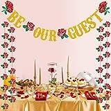 Be Our Guest バナー レセプションバナー 美女と野獣 婚約 結婚式 ブライダルシャワー パーティー用品 デコレーション