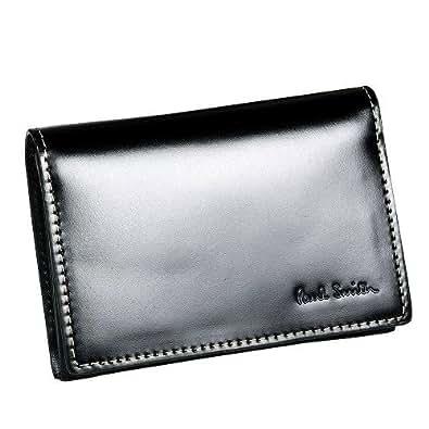【Paul Smith】ポールスミス 本革 インサイドマルチ コードバンレザー名刺入れ(カードケース) 黒