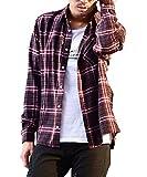 マイノリティセレクト(MinoriTY SELECT) ネルシャツ メンズ チェック ネル シャツ 長袖 赤 黒 M H柄(19)