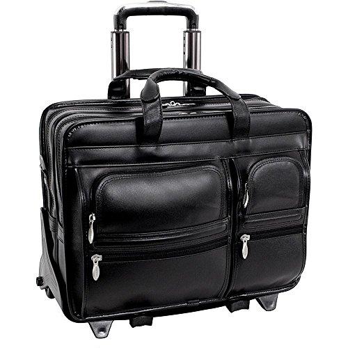(マックレーンユーエスエー) McKlein USA メンズ バッグ キャリーバッグ Clinton Leather Wheeled 17' Laptop Case 並行輸入品