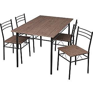 ダイニングテーブルセット5点セット(チェア4脚・テーブル幅120)幅120×奥行75×高さ74 ブラウン ASP-1275