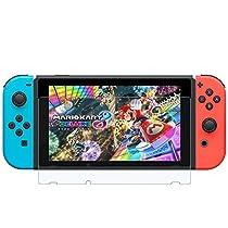 AVIDET Nintendo Switch フィルム ガラスフィルム 9H硬度の液晶保護 2.5D 超薄型 日本板硝子社国産ガラス採用 耐指紋 撥油性 高透過率 ラウンドエッジ加工