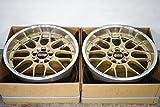 【中古】9.5J×18 +15 BBS RS-GT RS906 18in 鍛造 ホイール2本【TS5772/1180H1-HP】
