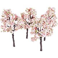 10個入り モデルツリー 樹木 木 ピンクフラワー 鉢植え用 鉄道模型 風景 モデル トレス 情景コレクション ジオラマ 建築模型 電車模型 OO HOスケール 11cm