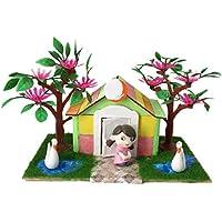 Baoblaze 1/25 DIY ドールハウス ミニチュア クラフト キッズ ギフト 豪華 手作りキット 4種選ぶ - スタイル4