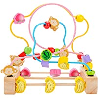 Muzx The Monkey Shape Bead Maze --木製教育玩具