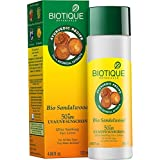 Biotique Bio Sandalwood lotion 50+ SPF Sunscreen for all skin Types in the Sun Very Water -Resistant 120 ml -...
