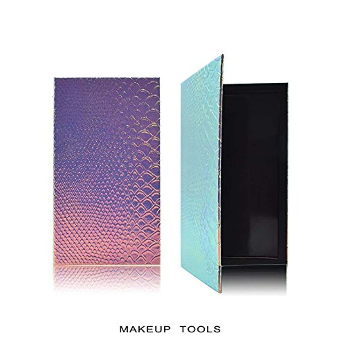 吸い込む光沢のあるロマンチックRaiFu アイシャドウ パレット 化粧 空の磁気 自作携帯型 美容 化粧品の保管ツール うろこ 18*10CM