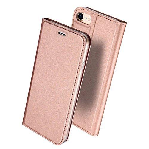 iPhone8 ケース 手帳型 高級PUレザー 軽量 耐摩擦...