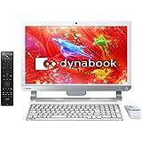 東芝 オールインワンデスクトップパソコン dynabook D71リュクスホワイト(WIN8.1Update 64Bit/i7-4710MQ/8GB/ブルーレイディスクドライブ/21.5型/Office Home & Business Premium搭載) PD71RWP-HHA