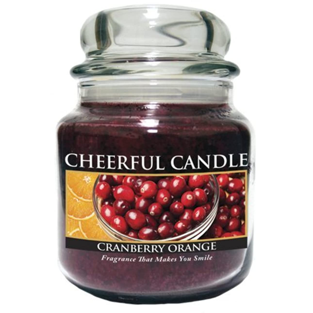 オーケストラコースディーラーA Cheerful Giver Cranberry Orange Jar Candle, 24-Ounce by Cheerful Giver [並行輸入品]