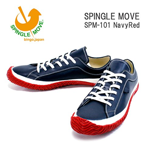 (スピングルムーヴ)SPINGLEMOVE spm101-79 スニーカー SPINGLE MOVE SPM-110/ Navy/Red L26.5cm NavyRed