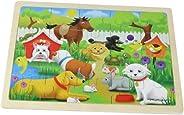 Masterkidz Pets Wooden Jigsaw Puzzle,Multicolor