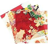 西村庄治商店 ちりめんORIFU(折り布) 約17cm×17cm 3枚入 鶴 手芸・ハンドメイド用品