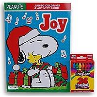 HolidayクリスマスピーナッツスヌーピーJoyカラーリングandアクティビティブックwithクレヨン