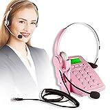 コールセンター用ヘッドセット+電話機セット【ビジネスホン*業務用電話機】【お買い得!】 (ピンク)