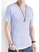 (オークランド) Oakland Vネック フライス カットソー 杢調 ストレッチ 長袖 ゆる Tシャツ コットン カラー 秋 メンズ