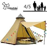 Vidalido 12'x10'x8'Dome Camping Tent(テント) 5-6 Person 4 Season Double Layers Waterproof Anti-UV Windproof Tent(テント)s Family Outdoor Camping Tent(テント)(Yellow) [並行輸入品]