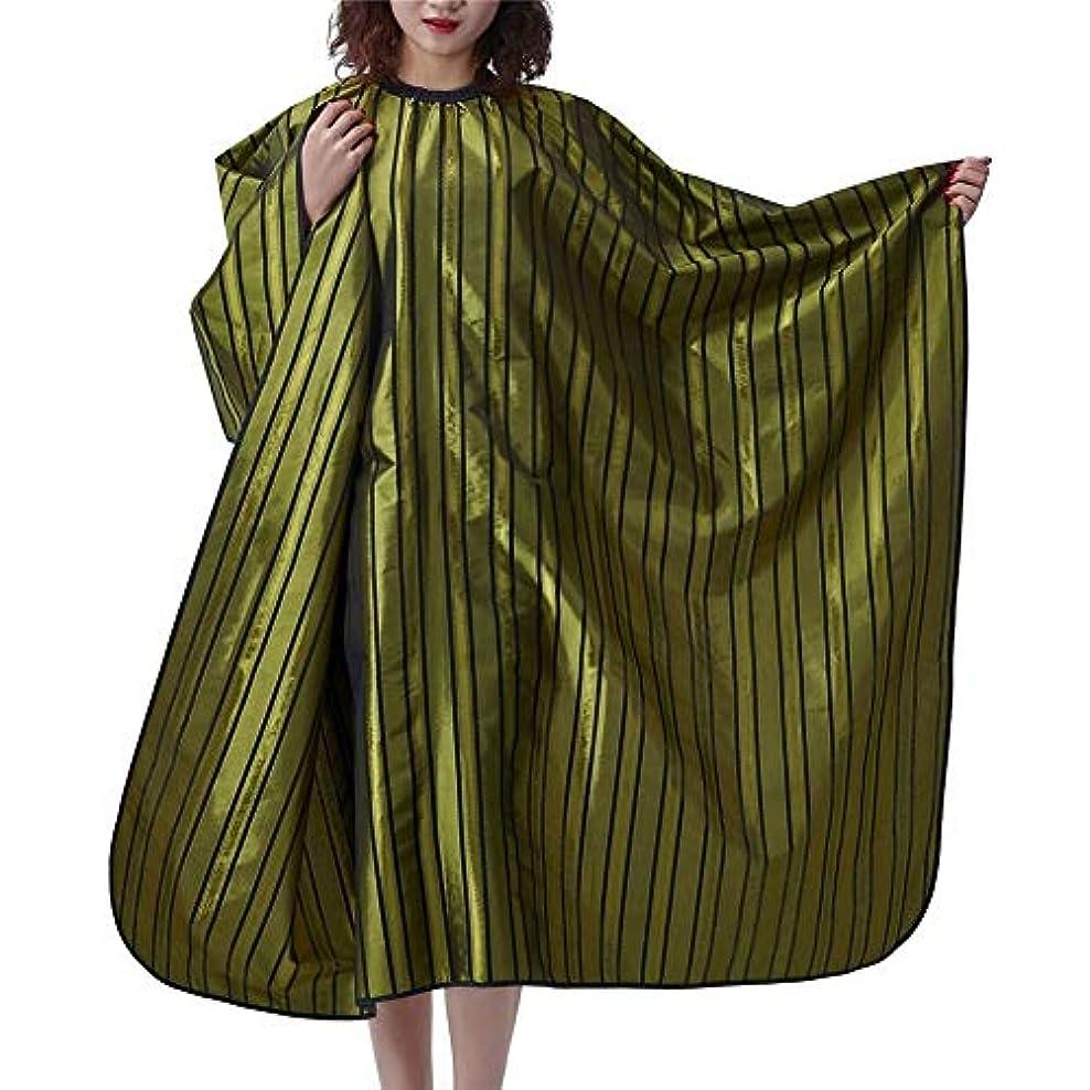 立方体ほのめかす混沌HIZLJJ ヘアスタイリスト、クライアント、男性、女性用のスナップ付きのサロンとバーバーケープ-ヘアカット、スタイリング、トリミングケープとガウン-スナップ付きの理髪ガウンカバー-余分な長い、スタイリッシュ、防水 (Color : Green)
