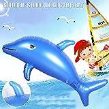 子供用 水泳のおもちゃ 100 50cm 泳ぐフロート 子供のインフレータブル イルカ形 フロート玩具 ポータブル ウォーターゲームパッド用 プールビーチパーティー 水泳用品
