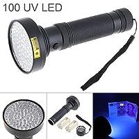 SecurityIng UVブラックライト、紫外線ブラックライトLED懐中電灯アルミ合金100 LED 395nm、蛍光剤検出、お金、ペットの尿、汚れ(6本の単三電池は含まれていません)
