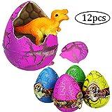 Snner 拡張オモチャ 孵化オモチャ 恐竜の卵 拡張イースターエッグ 子供 面白い 知識の学び 興味の高め カラフル 12pcs