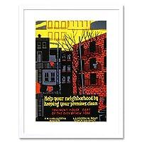 Vintage Ad Health Laguardia New York USA Framed Wall Art Print ビンテージ健康ニューヨークアメリカ合衆国壁