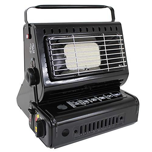 WEIMALL カセットガスストーブ ポータブル ガスストーブ ガスヒーター 温度・角度調整付 屋外用 ブラック