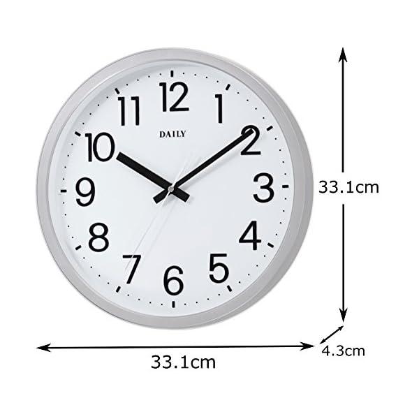 DAILY(リズム時計) クォーツ時計 フラッ...の紹介画像3