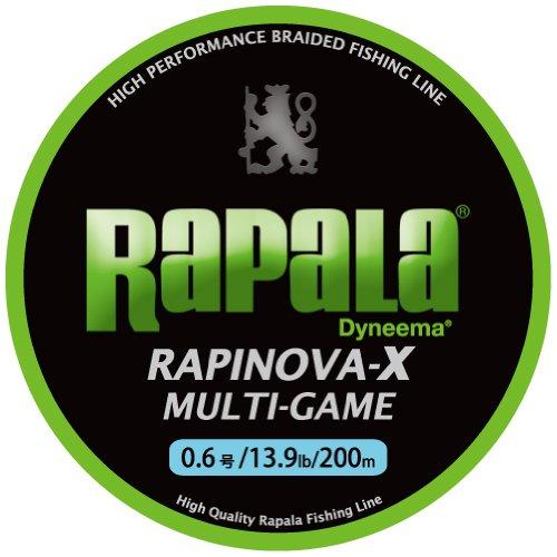 ラパラ ラピノヴァX マルチゲーム 200m 2.0号 32.8lb ライムグリーン Rapinova-X Multi Game 200M . RLX200M20LG