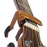 カポタストワンタッチ ギターカポ - BestSounds アコギ専用カポタスト guitar capo(木目カラー)