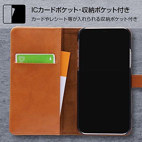 レイ・アウト iPhone X ケース 手帳型 本革 スナップボタン/キャメル RT-P16RLC2/K