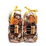 Qingbei Rina Gifts.Orange Fresh Potpourri Bag,Petal,Perfume Satchel,Decorate Bowl and Vase.Two Bags.8.4OZ. (Orange) [並行輸入品]