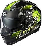 オージーケーカブト(OGK KABUTO) バイクヘルメット フルフェイス KAMUI2 BLAZE(ブレイズ) フラットブラック/イエロー (サイズ:XL) 569457