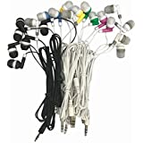 Wholesale Kids Bulk Earbuds Headphones Earphones, 6 Assorted Colors,for Schools, Libraries, Hospitals (10pack)