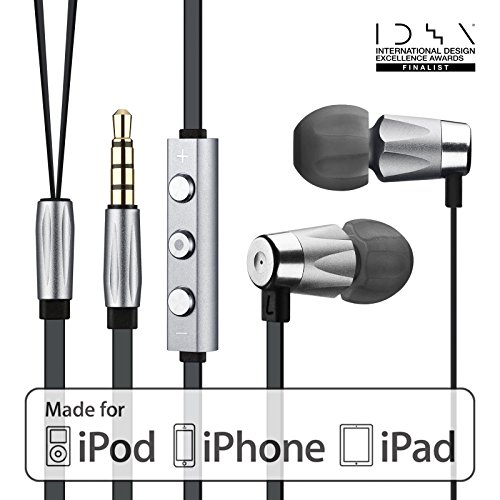 GGMM カナル型 イヤホン 中高音 Hi-Fi 高音質 通話機能付 Alauda iOS 対応 (3ボタン)