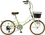 【各色100台限定】メーカー正規品 リサとガスパール 20インチ小径自転車 シティサイクル シマノ6段変速ギア Gaspard et Lisa エレガントパール