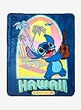 Disney 's Lilo &Stitch Hawaii Surf Club Throw Blanket