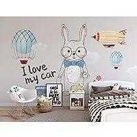 子供のためのカートンのウサギの壁紙の壁画3d子供部屋の居間の写真の壁紙、HDによって印刷される接触用紙280 cm(W)x 180 cm(H)