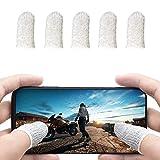 荒野行動 PUBG Mobile コントローラー スマホゲーム 手汗対策 超薄 銀繊維 5個入り 指カバー 反応早い スマホ指サック 操作性アップ 携帯ゲーム iPhone/Android/iPad対応