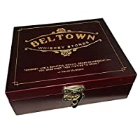 Beltown Whiskey Stones Gift Set - includes 8 Whiskey Stones a pouch and stainless steel tongs [並行輸入品]