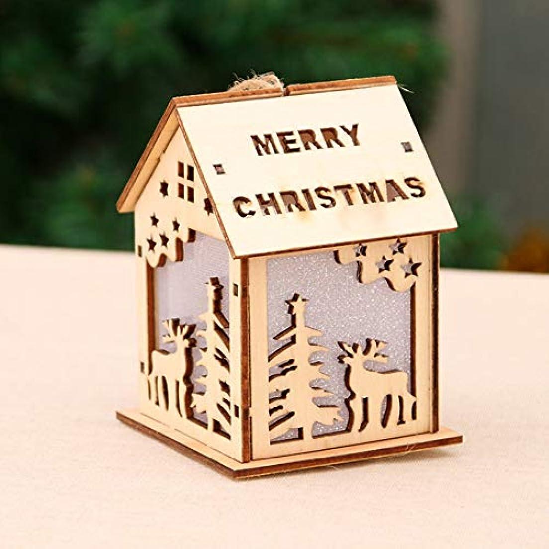 内向き渦ずっとRabugoo クリスマスデコレーションライトスノーハウスホテルバークリスマスツリーデコレーションをハングアップ Large deer