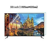 LSYOA スーパークリア テレビ画面プロテクター、アンチブルーライト 目の保護 スクリーン保護フィルム アンチスクラッチ テレビ保護パネル、LCD、LED、OLED、QLED 4K HDTV向け,50in