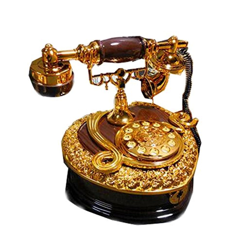 LOPNMEWQ 軽量レトロな電話の時計じかけのオルゴール宝石装飾のギフト