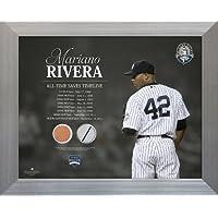 MLBニューヨークヤンキースMariano Riveraタイムラインジャージーall-time保存、汚れコラージュフォト、11 x 14インチ