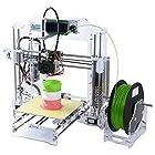 ALUNAR Reprap Prusa i3 3D プリンターキット DIY アクリル 未組立 FDM カラフルな3Dプリンターマシン ブラック & 透明な 二つの色 (透明な)